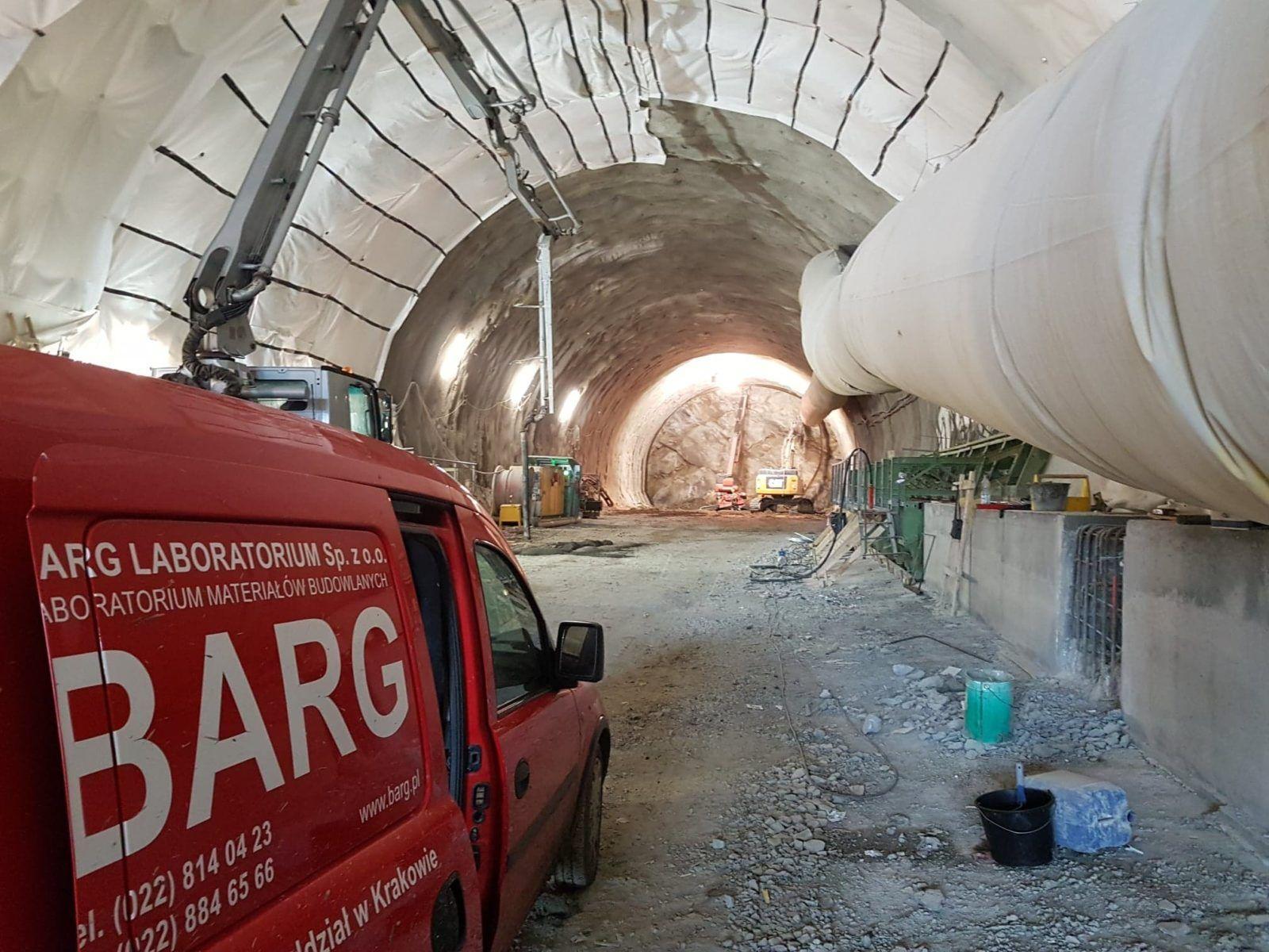 Budowa tunelu na Zakopiance
