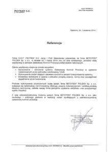 Referencje - Masiulaniec - ZKP-1