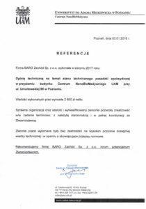referencje Barg CNBM 2018-1